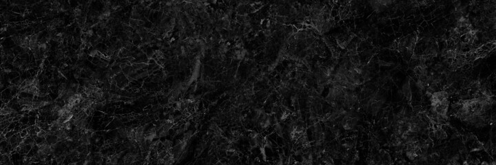 black marble texture with white veins.