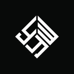 Fototapeta YWY letter logo design on black background. YWY creative initials letter logo concept. YWY letter design.  obraz