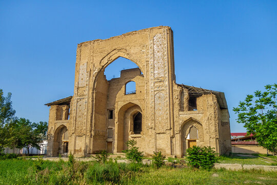 Ishratkhona Mausoleum, tomb for women from the Timurid dynasty, Samarkand, Uzbekistan. Built in 1464.