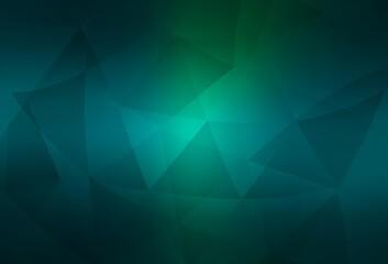 Light Blue, Green vector polygonal pattern.