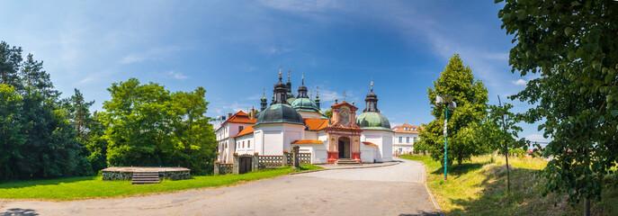 Obraz The Church of the Assumption of Our Lady, Klokoty, Tabor, Czech republic - fototapety do salonu