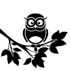Fototapeta Owl icon isolated on white background obraz