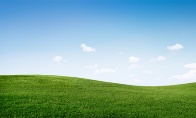 Grassy plains with a cloudy sky