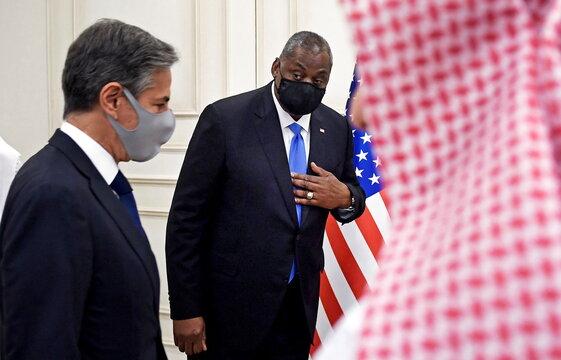 U.S. Secretary of State Antony Blinken meets with his Qatari counterparts in Doha