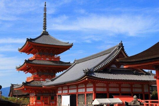 Japanese pagoda in Kyoto, Japan