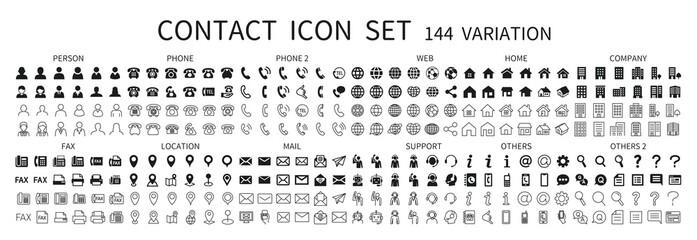 Fototapeta Contact related icon set 144 obraz