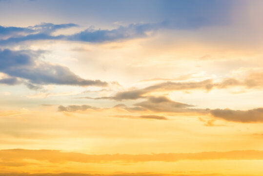 Sunset sky and clouds. Sunset sky nature background