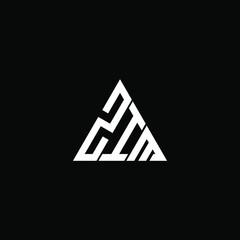 Fototapeta ZIM letter logo creative design. ZIM unique design  obraz
