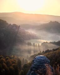 Fototapeta Beautiful shot of Saxon Switzerland National Park obraz