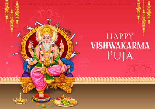 Hindu God Vishwakarma, an architect, and divine engineer of universe