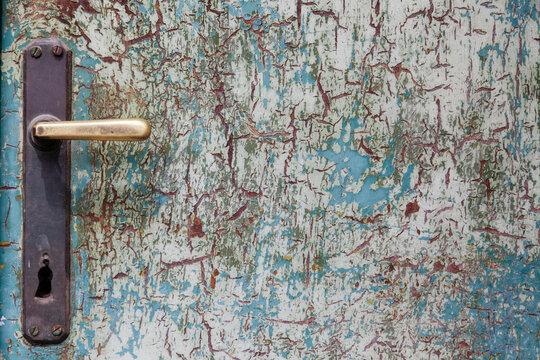 doorknob on old dilapidated door