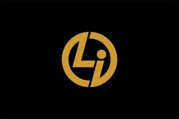 Obraz Letter LI logo design vector. Abstract font logo design. - fototapety do salonu