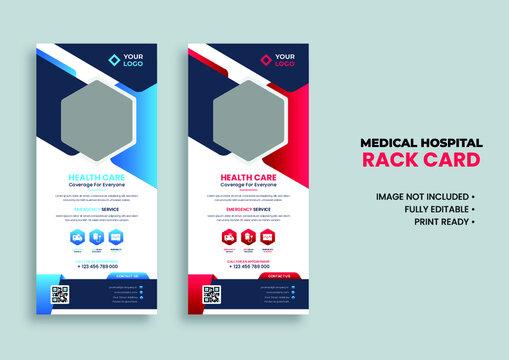 medical rack card template