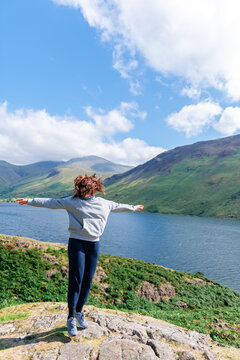 Wastwater lake in the Lake District National Park