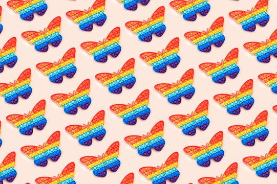 Pattern Rainbow Pop It Bubble Sensory Fidget Toys