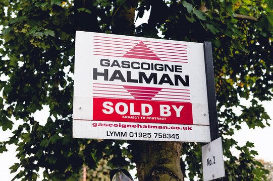 Gascoigne Halman sign Sold By, UK