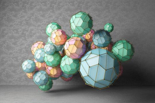 Icosahedron shapes