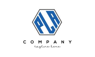 Obraz letters PLA creative polygon logo victor template - fototapety do salonu