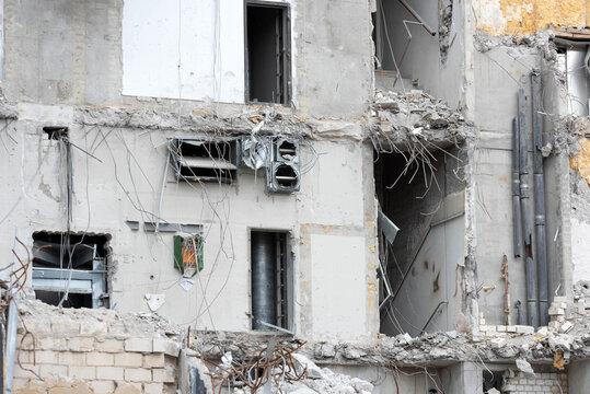 Ein Haus wird abgerissen