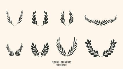 Fototapeta Hand drawn botanical elements  isolated background , Flat Modern design , illustration Vector EPS 10 obraz