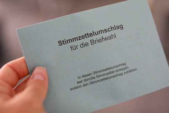 Briefwahl Stimmzettel Briefumschlag