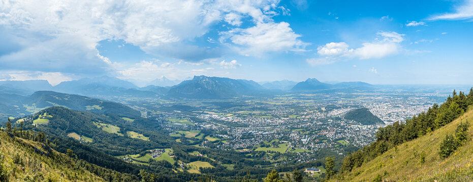 Salzburg vom Gaisberg aus gesehen