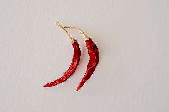 Dried red chili or chilli cayenne pepper
