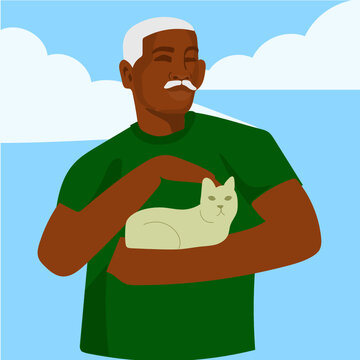 Man with cat 1