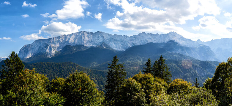 Beautiful alpine panorama in summer