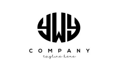 Fototapeta YWY three Letters creative circle logo design obraz