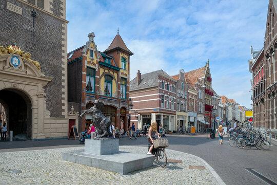Oude Raadhuisplein in Kampen, Overijssel Province, The Netherlands