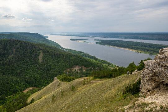 Panoramic view of Zhiguli mountains
