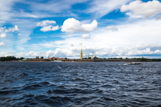 View of Neva river and the Peter and Paul fortress, Saint Petersburg