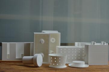 Fototapeta Series of 3D modeling PLA molds obraz