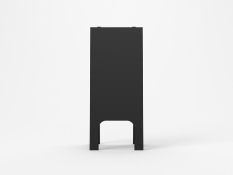 Black wooden Chalkboard Street Stand Mockup front view