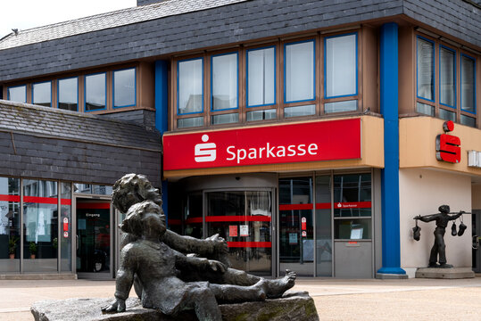 Sparkasse in the down town of Montabaur, Germany