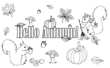 Szkic jesień, rysunek