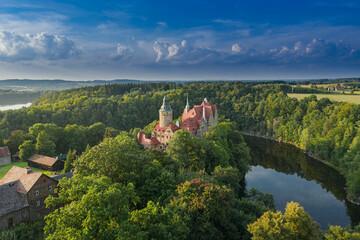 Zamek Czocha. Widok z drona.