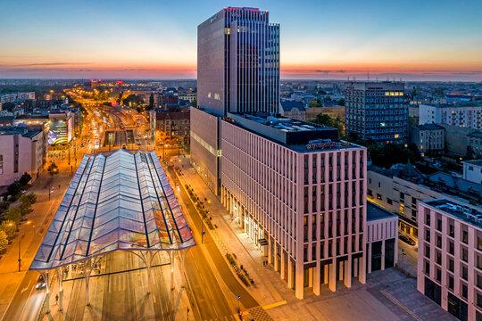 Miasto Łódź- Przystanek Centrum.