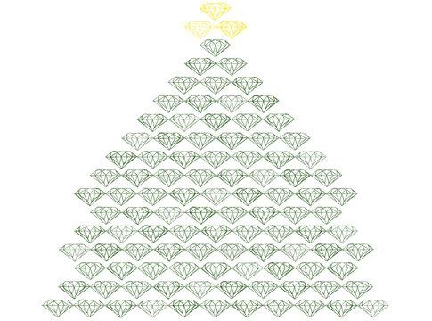 グリーンダイヤモンドのクリスマスツリー