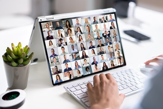 Virtual Video Conference Meeting Chat