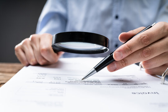 Fraud Investigation Tax Auditor Inspecting Business