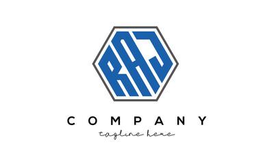 Obraz letters RAJ creative polygon logo victor template  - fototapety do salonu