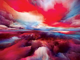 Obraz Beautiful Land and Sky - fototapety do salonu