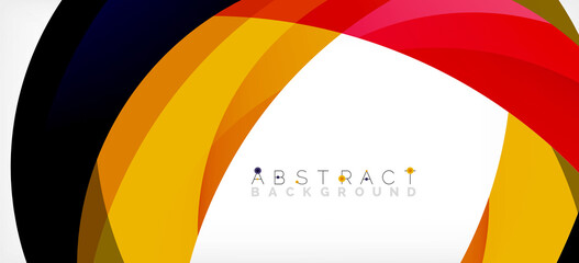 Color circle shapes, minimal geometric background. Trendy dynamic composition. Vector Illustration For Wallpaper, Banner, Background, Landing Page