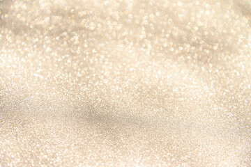festive glittering christmas lights. Blurred beige abstract background for holidays