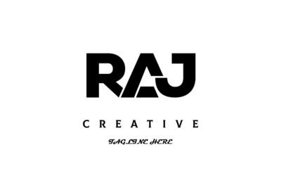 Obraz creative three latter RAJ logo design - fototapety do salonu