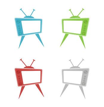 retro tv old design icon