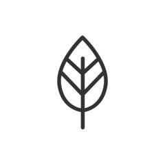 Fototapeta Vector leaf line icon. obraz