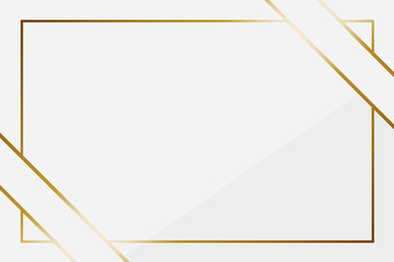 Obraz 高級感のある斜め掛けリボン背景 長方形 ホワイト&ゴールド - fototapety do salonu